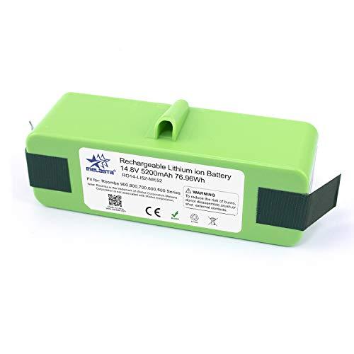 melasta batería de iones de litio de 14.8v 5200mAh de larga duración de para iRobot Roomba 980 960 890 690 900 800 700 600 Series 985 966 880 870 790 780 770 655 650 640 614 615 620 -celdas UL&CE