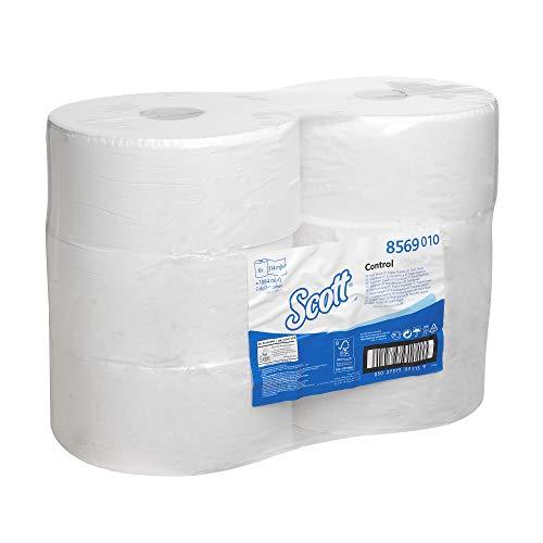 Scott Control Einzelblatt-Toilettenpapier mit Zentralentnahme 8569 – 2-lagiges Toilettenpapier – 6Packungen x1.280 Blatt (insges. 7.680)