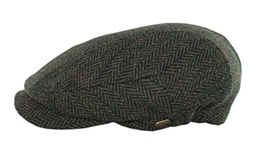 Mucros Weavers Men's Irish Made Kerry Cap (S, Col 27 (Green Herringbone))
