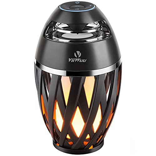 Flame Light Speaker, Viiwuu Led Flame Speakers Torch Atmosphere Bluetooth Speakers Outdoor Portable Stereo Speaker with HD Audio and Enhanced Bass Night Light Table Lamp BT 5.0 for iPhone Android