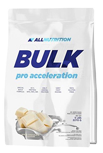 AllNUTRITION Bulk Pro Accleration opbouw van spiermassa Training Sport Bodybuilding (2270 g White Chocolate - witte chocolade)