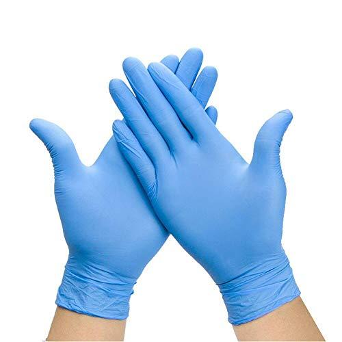 Caja de 100 guantes desechables de nitrilo, tamaño grande, color azul