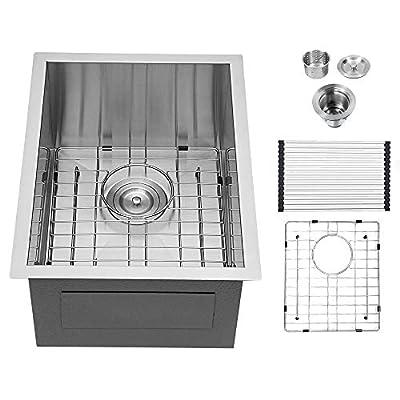 Logmey Undermount Kitchen Sink Stainless Steel Single Bowl