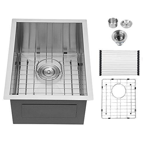 14 Bar Sink Undermount - Logmey 14 ×18 inch Bar Prep Sink Undermount kitchen sink stainless steel undermount Sink Single Bowl