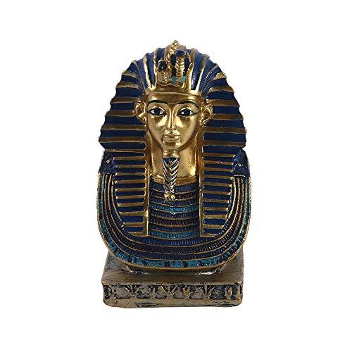 VOANZO Kleine goldene Kobra- und Geiermaske der Pharao-Statue Königliche Dynastie König TUT Büstenfigur mit Hieroglyphen