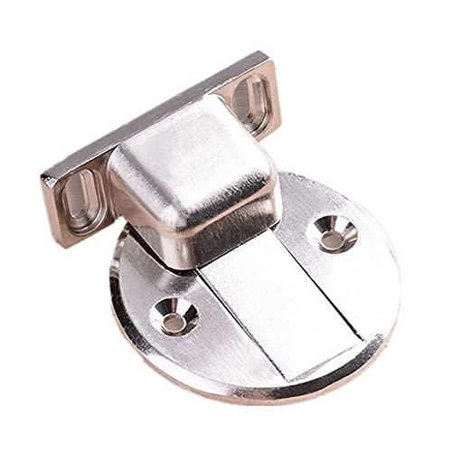 Tope de puerta magnético fuerte invisible, parachoques de puerta interior engrosado montado en el piso, color acero inoxidable