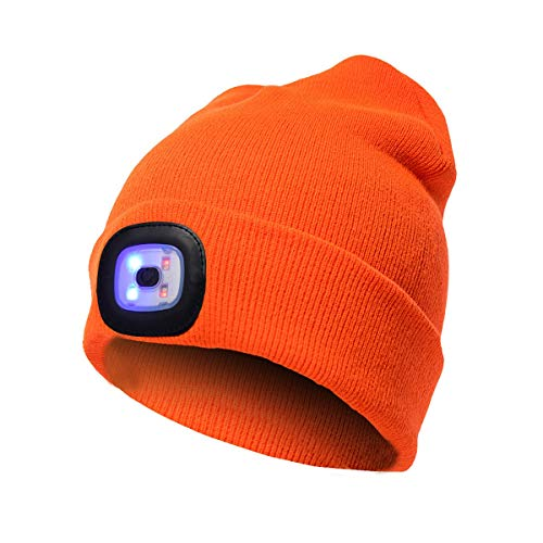 WYQLH Gorra de Goma con luz LED, LED Ligero Gorros, Running Hat...