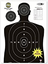 HOITO Shooter Win 55 Pack 17X25 inch Silhouette Range Shooting Paper Targets Shoot for Firearms,Pistols,Rifles,BB Guns,Air...