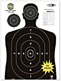 HOITO Shooter Win 55 Pack 17X25 inch Silhouette Range Shooting Paper Targets Shoot for Firearms,Pistols,Rifles,BB Guns,Airsoft Guns,Pellet Guns