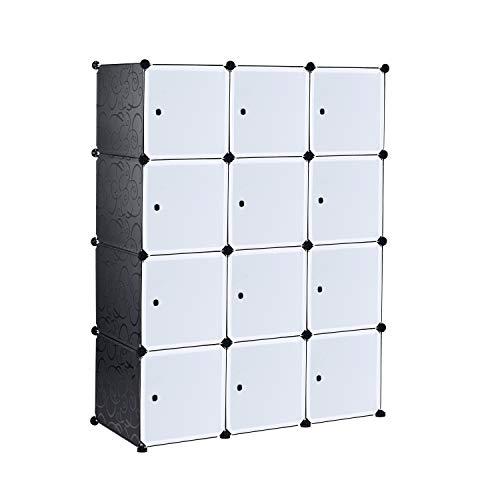 Ribelli Guardaroba Armadio Asta Appendiabiti Armadio modulare componibile scaffale a Incastro, Arte:12 cubi