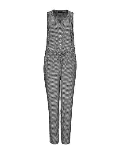 OPUS Damen Maralda Leaf Overall, Black, 38