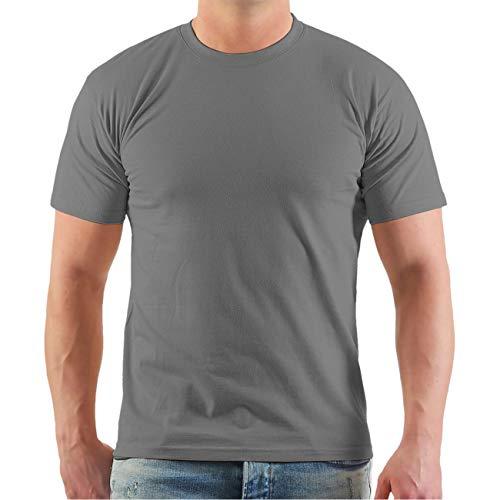 Spaß kostet Marke Tshirt Promodoro unbedruckt grau in ÜBERGRÖßEN 6XL 7XL 8XL