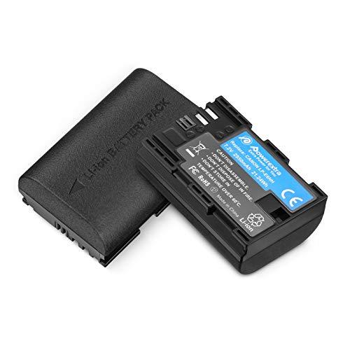 Powerextra LP-E6NH High Capacity Batteries 2950mAh for Canon LP-E6NH Battery and Canon EOS R R5 R6 EOS 90D 60D 70D 80D EOS 5D II 5D III 5D IV 5Ds, EOS 6D 6D II EOS 7D 7D Mark II Cameras