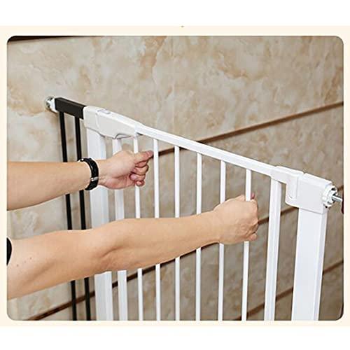 JHAISMAO Barrera de Seguridad de Niños para Puertas y Escaleras Open N Stop KD Safety Incl. Puerta para Mascotas con Cierre automático para Puertas y pasillos (Size:61-68cm,Color:Blanco)