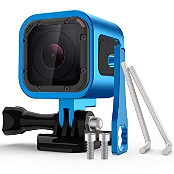 Nechkitter Aluminum Frame Housing Case for GoPro Hero 5 Session / 4 Session/Hero Session CNC Aluminum Alloy Solid Protective Case with Wrench –Blue