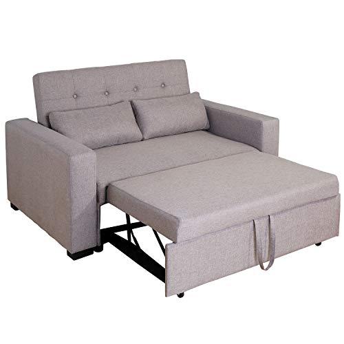 divano sofa Brigros - Divano Letto 2 in 1 in Tessuto Trapuntato a 2 Posti con 2 Cusini