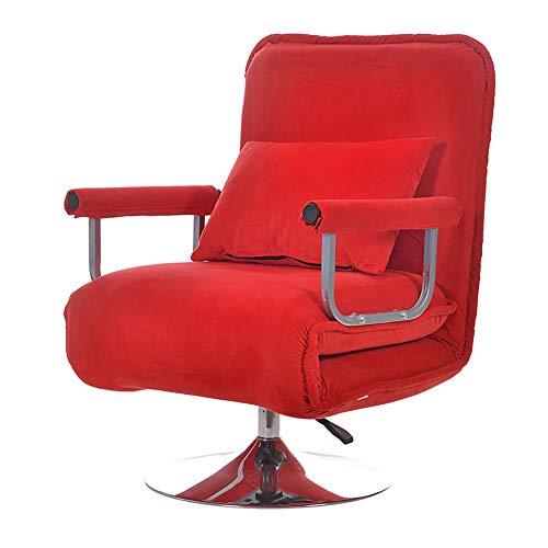 XIAMIMI 360 Grad-Schwenker Video Rocker Gaming Chair einstellbare Winkel Stuhl Klappboden Stuhl-Wohnzimmer-Möbel Ergonomisches Design,Rot