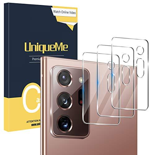 UniqueMe [3 Stück Schutzfolie Kamera für Samsung Galaxy Note 20 Ultra 4G/5G,Panzerglas Kamera für Samsung Galaxy Note 20 Ultra Kamera Schutzfolie Linse.