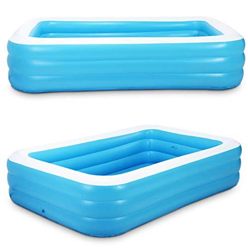 Realde Erwachsene Kinder Aufblasbarer Pool, Sommer Planschbecken,Großer Family Pool, Schwimmbecken Rechteckig für Jugendliche und Erwachsene, für Garten und Outdoor(110 * 90 * 46cm)