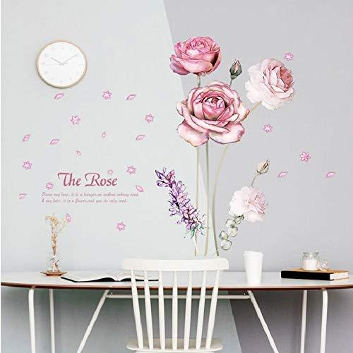 Gudojk muurstickers, rozen, voor het plannen van de fabriek, decoratie, voor deur, ramen, muur, achter, afneembaar, doe-het-zelf