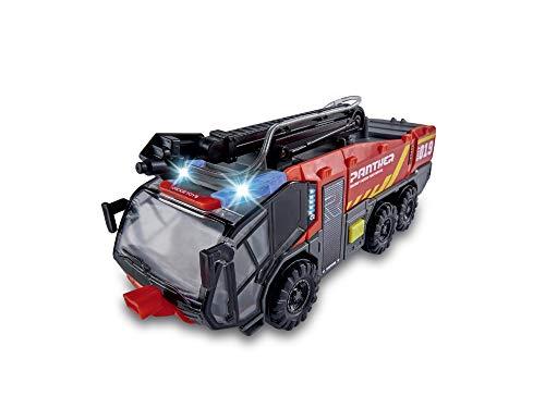 Dickie - Camión bomberos de aeropuerto 24 cm, luz y sonido, lanza agua (Dickie 203714012)