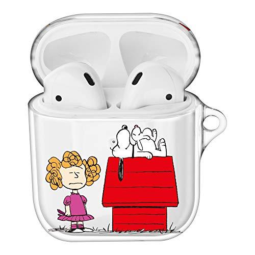 Peanuts Snoopy ピーナッツ スヌーピー AirPods と互換性があります ケース 透明 エアーポッズ用ケース 硬い スリム ハード カバー (一緒 スヌーピー 家) [並行輸入品]