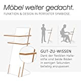Tojo Pult | Stehpult höhenverstellbar | Auch als Sitzpult geeignet | 120 cm x 50 cm (H x B) | Farbe Weiß | Schreibpult mit verstellbaren Fächern | Holzpult zu Lesen und Schreiben | Design Pult - 3