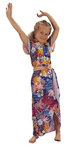 Rire Et Confetti - Fiahaw005 - Déguisement pour Enfant - Costume Beauté Hawaïenne - Fille - Taille S