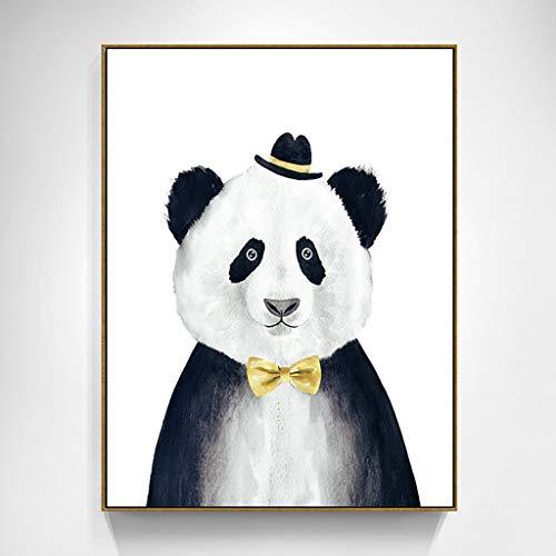 HHGO Karikatuurwanddecoratie, moderne muurkunst, decoratie, schilderij voor woonkamer, slaapkamer, keuken, kantoor, hal van het kind, stretching en lijst, klaar om op te hangen