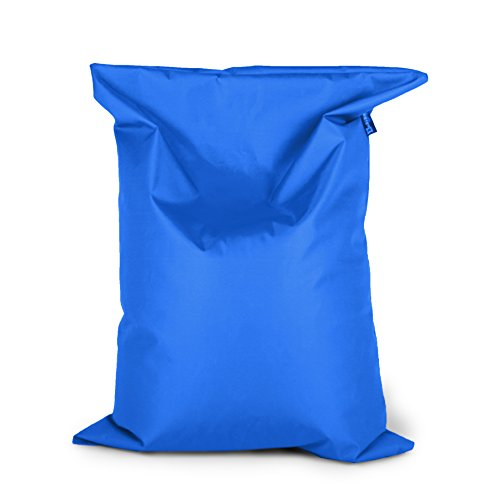 BuBiBag Sitzsack 150x100cm ca.340L mit Füllung Sitzkissen Rechteck Bodenkissen Kissen Sessel BeanBag (blau)
