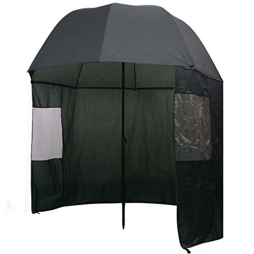 vidaXL Angelschirm 300x240cm Anglerschirm Regenschirm Schirmzelt Seitenwand