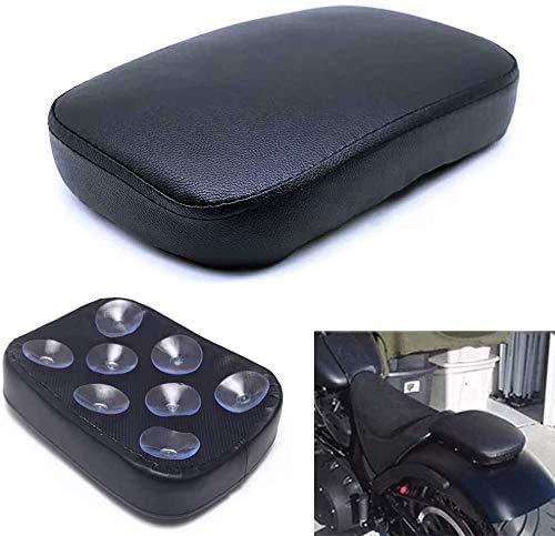 Felicey perfectamente aplicable para Motocicleta del cojín del amortiguador de pasajeros, motocicleta Volver amortiguador del asiento, la ventosa posterior del asiento del pasajero de crucero HA.RL.EY