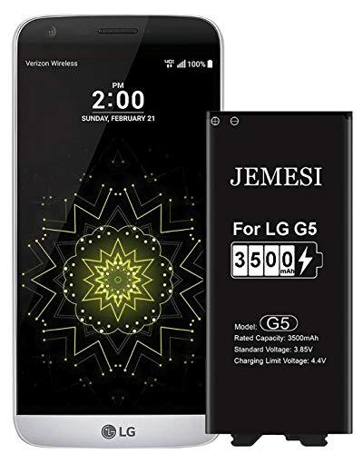 JEMESI 3500mAh Batería para LG G5 de Alta Capacidad, Reemplazo de Ion de Litio Compatible con Original LG BL-42D1F Batería (1 años de garantía)