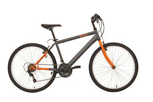 F.lli Schiano Thunder - Bicicleta de montaña para Hombre, Color Naranja/Gris, Cambio Shimano, Rueda 26''
