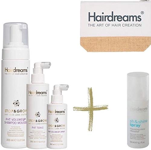Hairdreams STOP & GROW Deluxe Set mit GRATIS Beautybag/Sommertasche