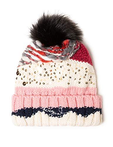 Desigual Hat Brilliant Gorro de Punto, (Rosa Helado 3021), Talla única para Mujer