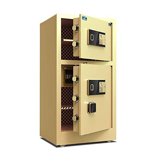 ZHBD Caja Fuerte Electronica Caja de Seguridad biométrica de la Huella del Teclado numérico Caja de la Cerradura del gabinete sólido de Acero Caja de Seguridad Fijaciones para Paredes y Suelos