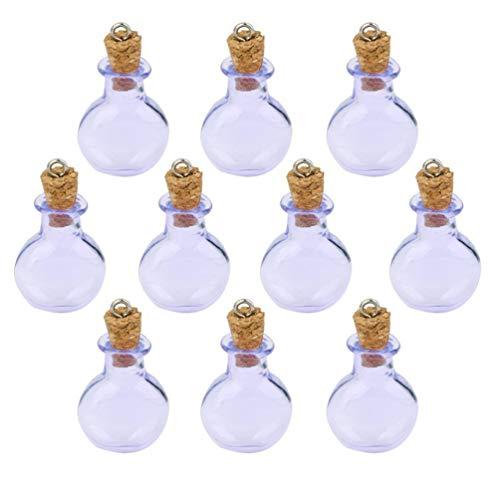 EXCEART 10 Piezas Mini Botellas de Vidrio Transparente Botellas de Corcho de Vidrio con Tapas de Corcho para Artes Artesanías Decoración Favores de Fiestas