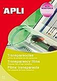 APLI 1063-Transparencias banda superior para inkjet 100 hojas...