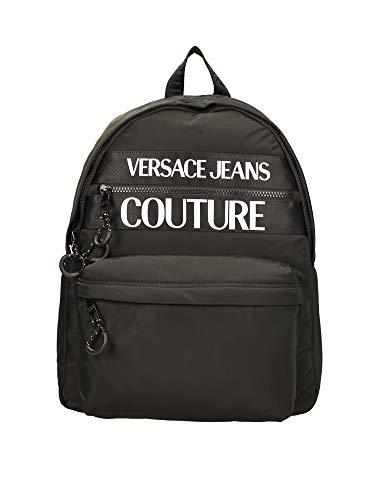 VERSACE Jeans Couture Sac à dos noir E1YZAB60-Ligne MACROLOGO DIS.1 TESS 71593 899 Nylon MACROLOGO