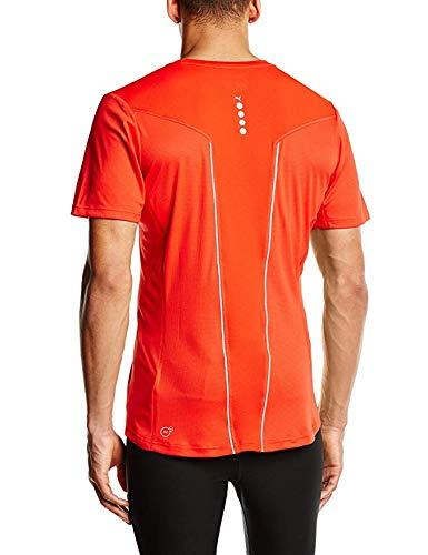 Puma Men's Running Pure Night Cat Short Sleeve T-Shirt - Puma Red, Medium