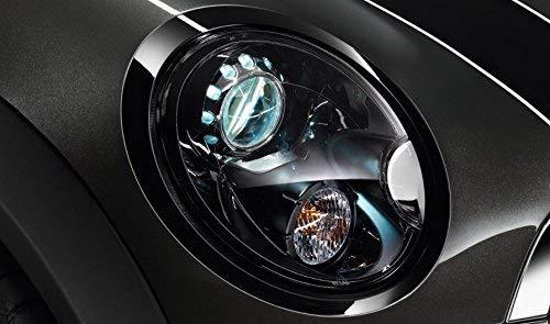 Original MINI Scheinwerfer-Zierring Set Blackline Jet Black schwarz für MINI R55, R56, R57, R58, R59