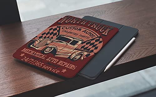 Funda para iPad 10.2 Pulgadas,2019/2020 Modelo, 7ª / 8ª generación,Frente Coche rojo Norte Camión Rasguños disponibles Capa de cerveza separada Vintage Smart Leather Stand Cover with Auto Wake/Sleep