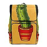 DXG1 - Mochila de cactus amarilla para mujer, hombre, adolescente, niña, libros, viajes, colegio, casual, para regreso a casa, suministros de gran capacidad