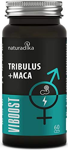 viboost TRIBULUS + MACA - Booster testostérone homme - Augmente la vitalité et l'énergie - Accroît la force et la résistance avec Maca, Tribulus Terrestris, Rhodiola et Zinc