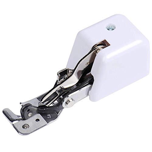Arbougstg Cortador lateral doméstico Overlock Prensatelas Piezas de la máquina de coser Cortador lateral Prensatelas para cantante Janome White Juki Kenmore Bernina