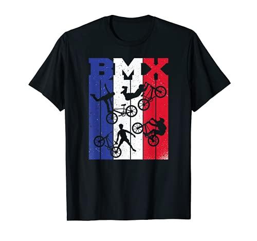 BMX Vélo France-flag BMX-Bike Bicyclette Freestyle race BMX T-Shirt