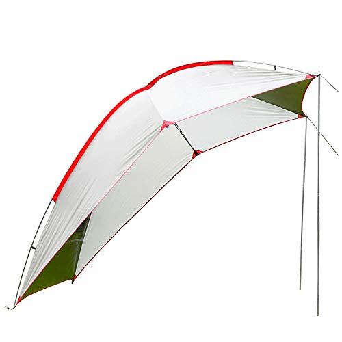 Toldo plegable para remolque, tienda de campaña, cobertizo de protección solar para 5-8 personas, impermeable y resistente a los rayos UV, adecuado para barbacoas de picnic para acampar en la playa