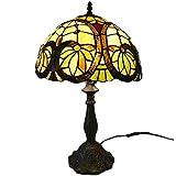 MGWA Lámpara de Mesa Árbol de Flores Pantalla de Cristal manchada + Resina Retro Dormitorio Creativo Salón Comedor Estudio Lámpara de Mesa/Lámpara de Mesa/Lámpara