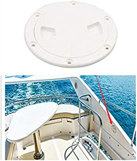 Hoffen 6 inch Hatch White Round Non Slip Inspection Hatch w/Detachable Cover for Marine Boat Yacht